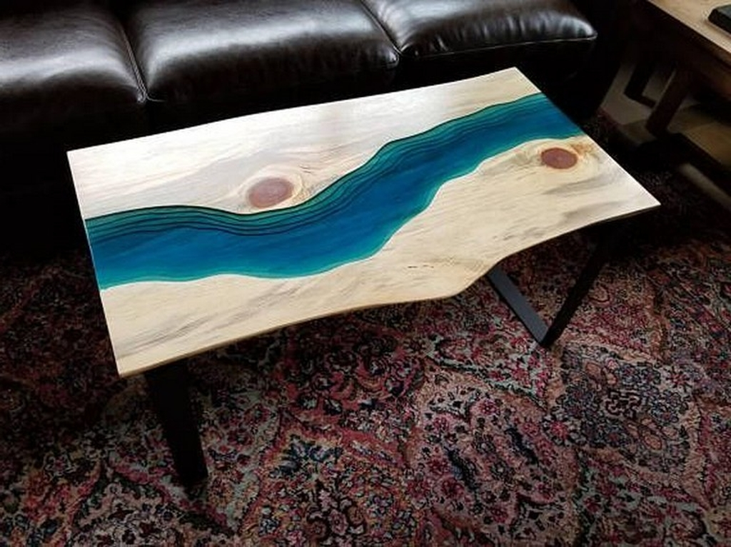 Impressive Home Furniture Ideas With Resin Wood Table 45