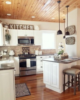 Latest Farmhouse Kitchen Décor Ideas On A Budget 18