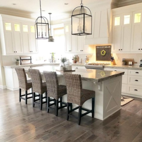 Latest Farmhouse Kitchen Décor Ideas On A Budget 45