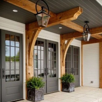 Cute Farmhouse Exterior Design Ideas That Inspire You 34