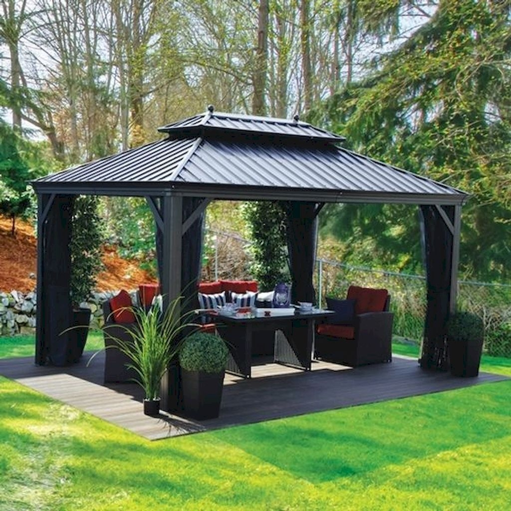 Stylish Gazebo Design Ideas For Your Backyard 36