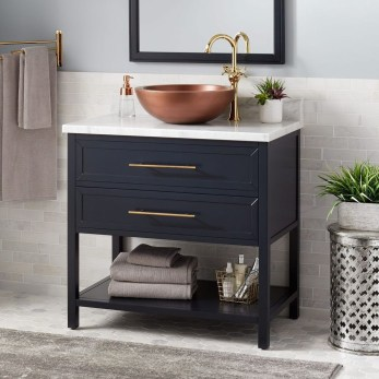 Wonderful Single Vanity Bathroom Design Ideas To Try 04