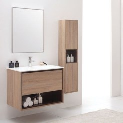 Wonderful Single Vanity Bathroom Design Ideas To Try 20