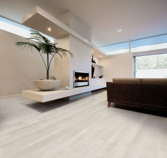 Awesome White Tiles Design For Living Room15