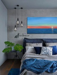 Beautiful Navy Blue And Coral Bedroom Decor24