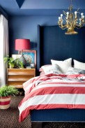 Beautiful Navy Blue And Coral Bedroom Decor30