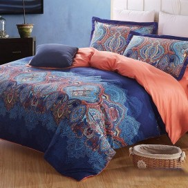 Beautiful Navy Blue And Coral Bedroom Decor31