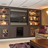 Cool Basement Living Room Design Ideas24