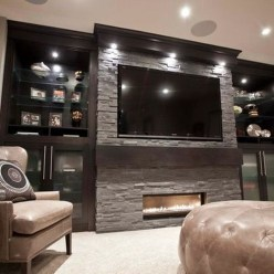 Cool Basement Living Room Design Ideas40