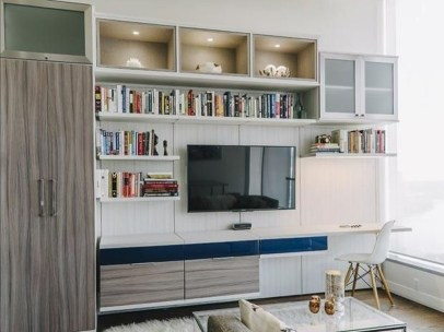 Gorgeous Cabinet Design Ideas For Small Living Room41