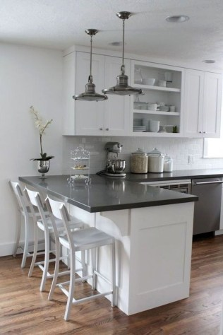 Affordable Black And White Kitchen Cabinets Ideas45