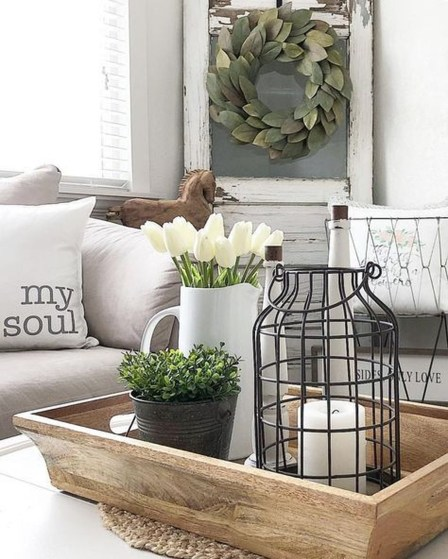 Awesome Living Room Design Ideas With Farmhouse Style18