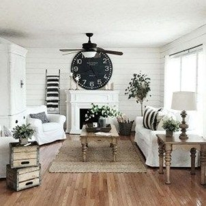 Awesome Living Room Design Ideas With Farmhouse Style32