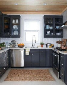 Best Ideas For Black Cabinets In Kitchen15