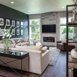 Impressive Living Room Ideas With Fireplace And Tv05