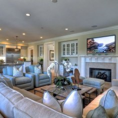 Impressive Living Room Ideas With Fireplace And Tv33