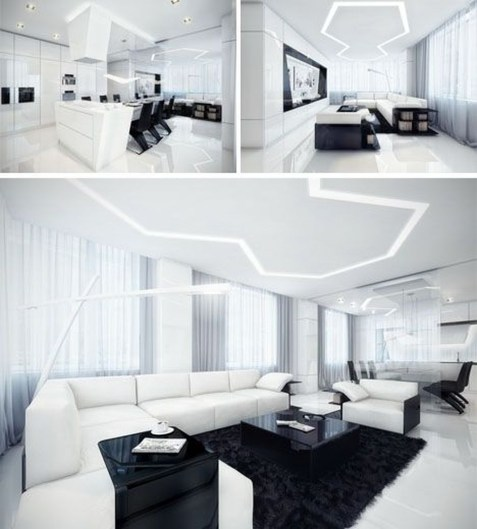 Modern And Futuristic Interior Designs To Inspire You37