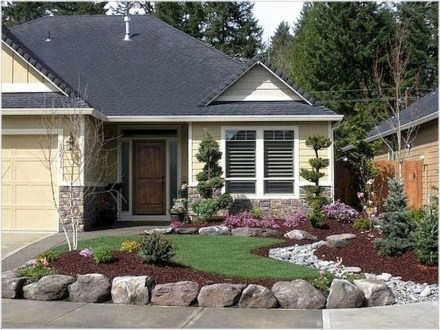 Cool Front Yard Rock Garden Ideas17