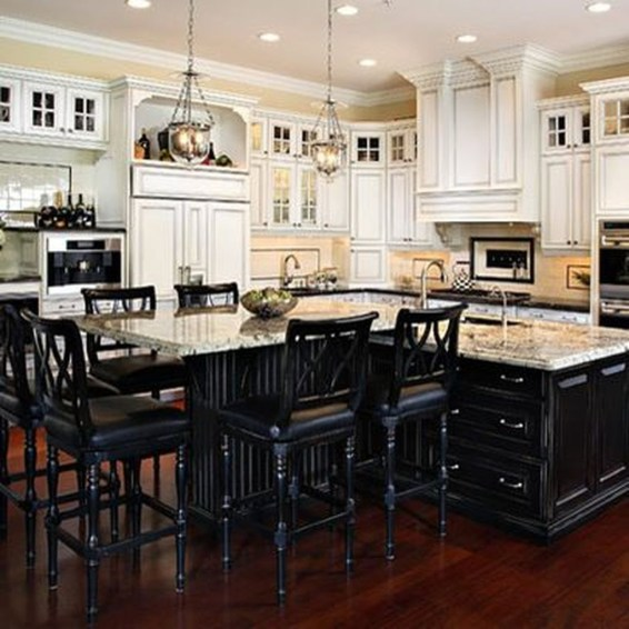 Inspiring Kitchen Island Design Ideas33
