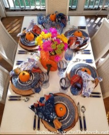 Lovely White And Orange Pumpkin Centerpieces For Fall And Halloween Table24