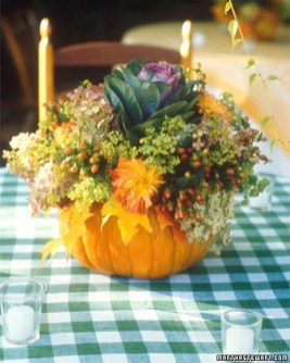 Lovely White And Orange Pumpkin Centerpieces For Fall And Halloween Table27