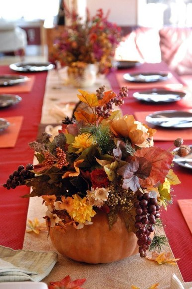Lovely White And Orange Pumpkin Centerpieces For Fall And Halloween Table31