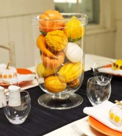 Lovely White And Orange Pumpkin Centerpieces For Fall And Halloween Table39