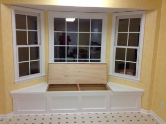 Stunning Window Seat Ideas With Padded Seat And Storage Below16