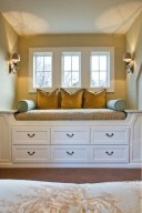 Stunning Window Seat Ideas With Padded Seat And Storage Below20