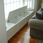 Stunning Window Seat Ideas With Padded Seat And Storage Below26