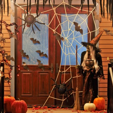 Stylish Wicked Halloween Porch Decorating Ideas On A Budget45