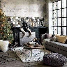 Awesome Vintage Christmas Living Room Decoration Ideas29