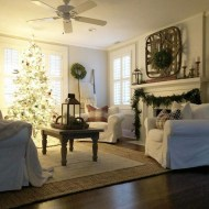 Awesome Vintage Christmas Living Room Decoration Ideas40