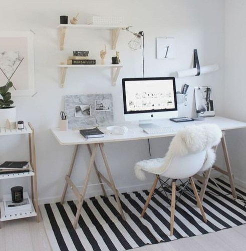 Comfy Home Office Design Ideas For Small Apartment04