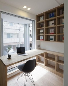 Comfy Home Office Design Ideas For Small Apartment20