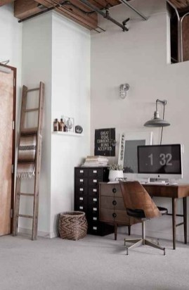 Comfy Home Office Design Ideas For Small Apartment41