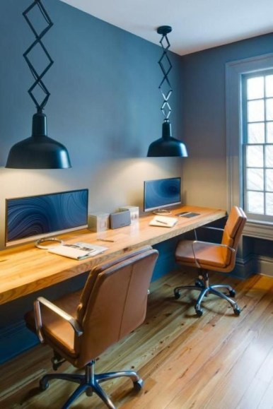 Comfy Home Office Design Ideas For Small Apartment48