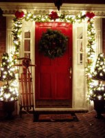 Pretty Christmas Front Yard Landscaping Ideas24
