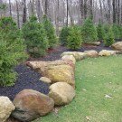Pretty Christmas Front Yard Landscaping Ideas34