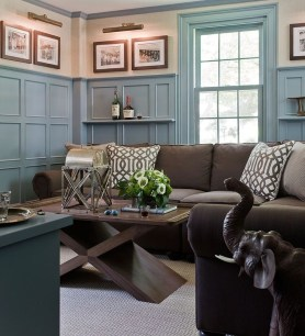 Unordinary Living Room Designs Ideas With Combinations Of Brown Color11