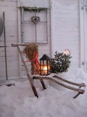 Vintage Outdoor Winter Lights Decoration Ideas33