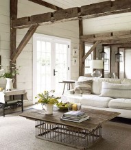 Creative Fresh Lake House Living Room Decoration Ideas45