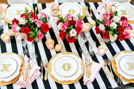 Elegant Table Settings Design Ideas For Valentines Day30