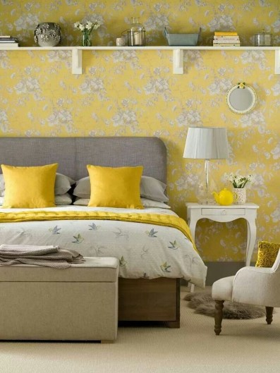 Perfect Yellow Bedroom Decoration And Design Ideas08