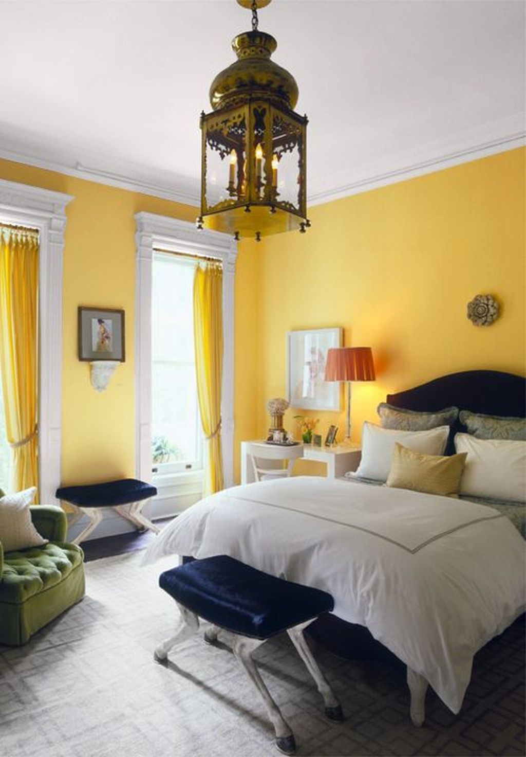 Perfect Yellow Bedroom Decoration And Design Ideas20
