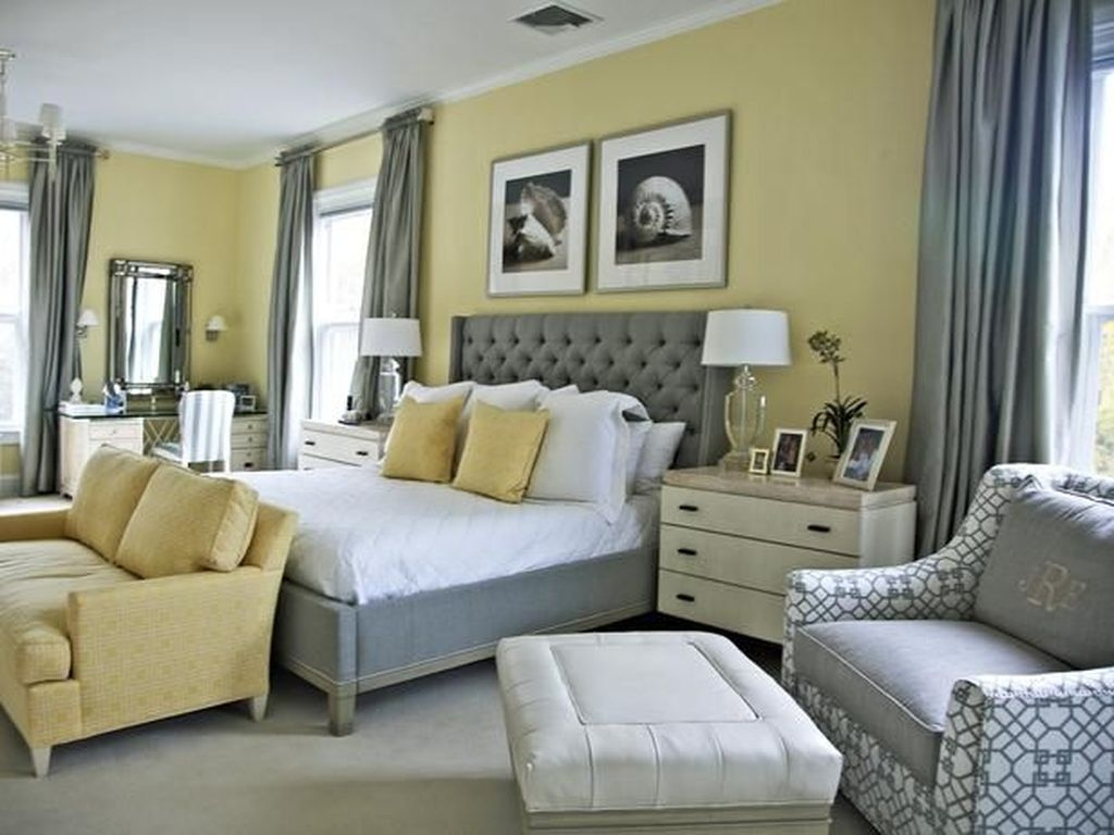Perfect Yellow Bedroom Decoration And Design Ideas29