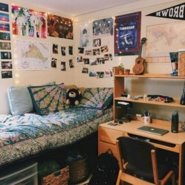 Brilliant Dorm Room Organization Ideas On A Budget14