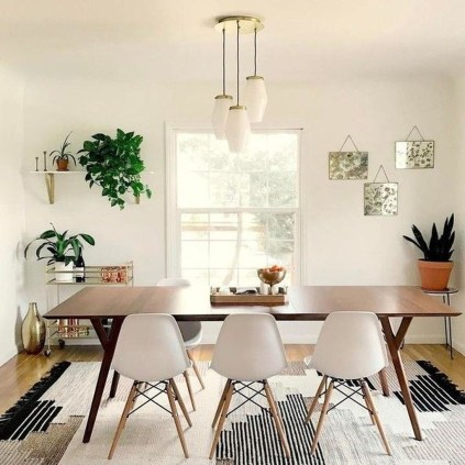 Cool Mid Century Dining Room Table Ideas18