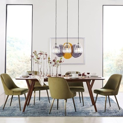 Cool Mid Century Dining Room Table Ideas32