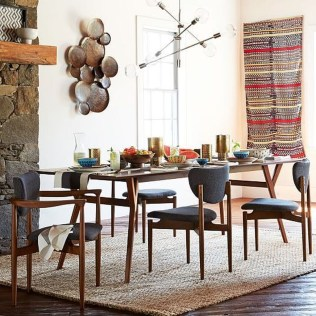 Cool Mid Century Dining Room Table Ideas35